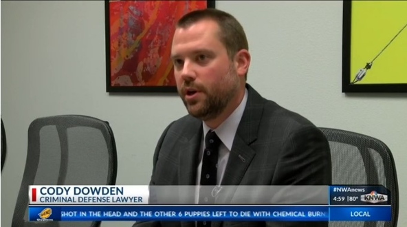 Attorney Cody Dowden on the news